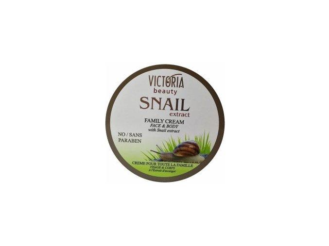 Victoria Beauty Snail extrack Rodinný krém so slimačím extraktom, 200 ml