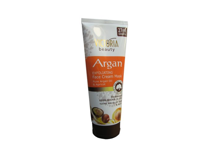 Victoria Beauty Exfoliačná ( peelingová)  krémová pleťová maska s arganovým olejom 177ml+27ml zadarmo