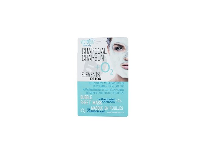 victoria beauty elements detox bubble sheet mask dylboko pochistvashta maska za lice s aktiven vyglen