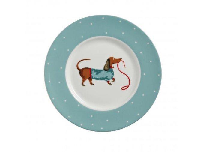 Dezertný porcelánový tanierik  Hound Dog
