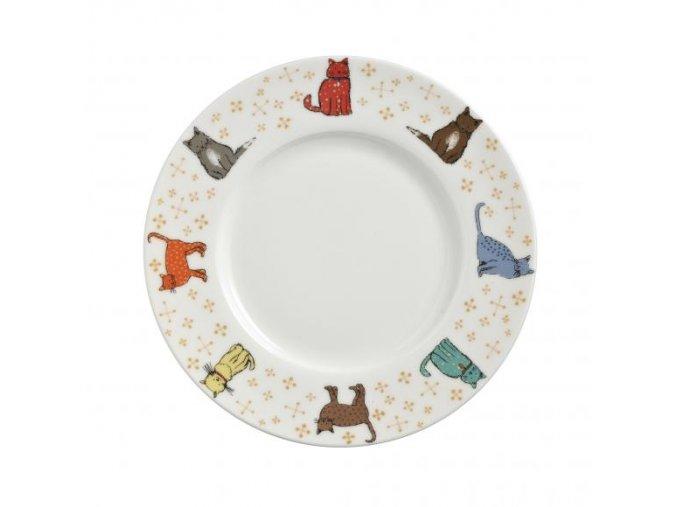 Dezertný porcelánový tanier Cat Walk