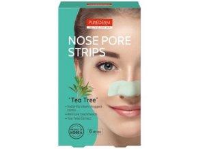 Purederm Čistiace pásiky na nos s výťažkami zo stromu Tea tree .