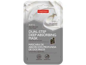 Purederm Dvojfázová Zlupovacia pleťová maska s uhlím a avokádom v dvoch krokoch, 1ks