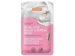 Purederm Dvojfázová Pleťová maska na noc s peptidy a výťažky z bambusu, 13 g