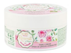 Victoria Beauty Roses and Hyaluron Univerzálny krém s ružový olejom a kyselinou hyalurónovou pre celú rodinu, 200 ml