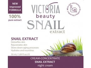 Victoria Beauty Snail Extract  Nočný krém so slimačím extraktom, 50ml
