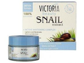Victoria Beauty Snail Extract  Intenzívny bieliaci hydratačný krém so slimačím extraktom, 50ml