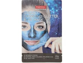 purederm diamond glitter blue mask