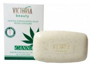 10293 victoria beauty cannabis exfoliacni mydlo s konopim 75g ok