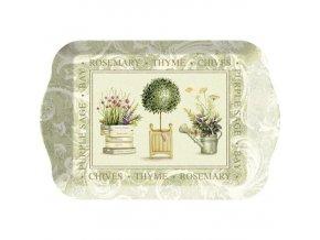 Creative Tops Melamínová servírovacia tácka Topiary, 21x14,5 cm