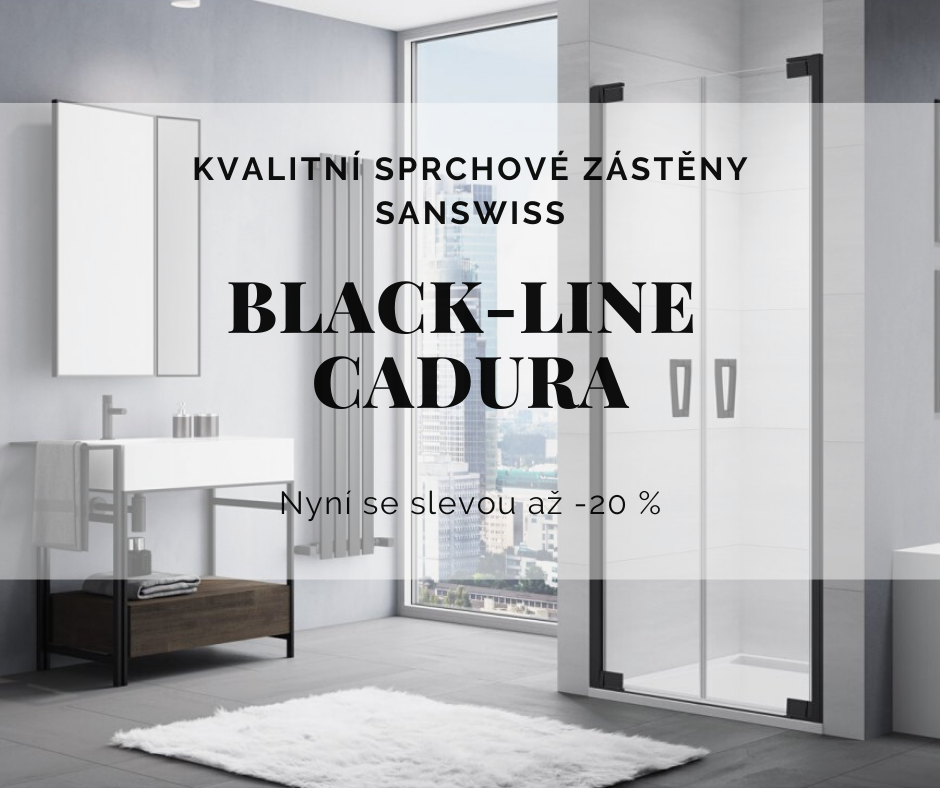 Sprchové kouty Cadura Black Line SanSwiss