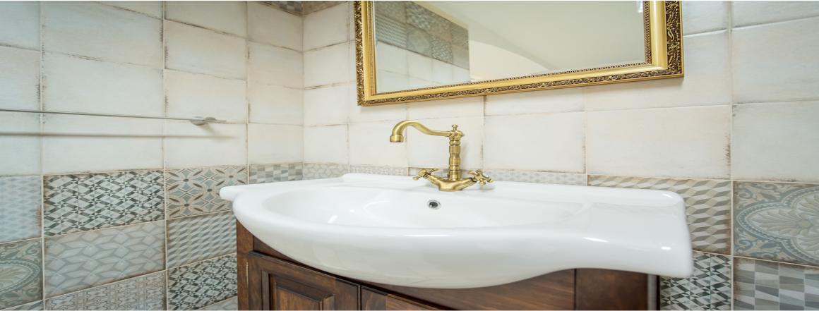 detail retro koupelna