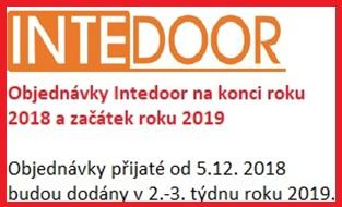 Objednávky prosinec Intedoor