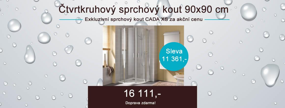 Čtvrtkruhový sprchový kout 90x90 cm