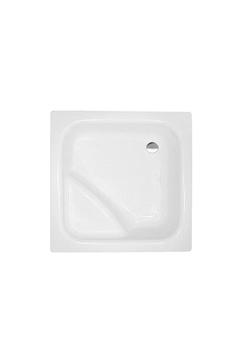 VISLA hluboká sprchová vanička, čtverec 80x80x29cm, bílá, 50111