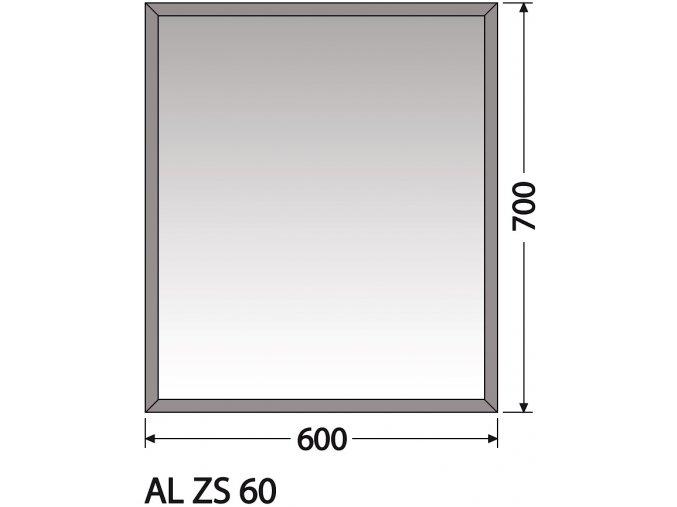 INTEDOOR zrcadlo bez osvětlení AL ZS 60