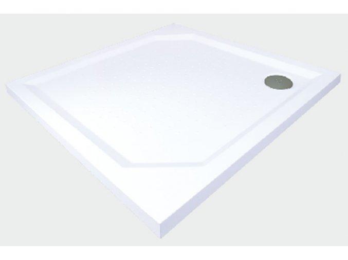 GELCO - ANETA80 sprchová vanička z litého mramoru, čtverec 80x80x4cm, GA008