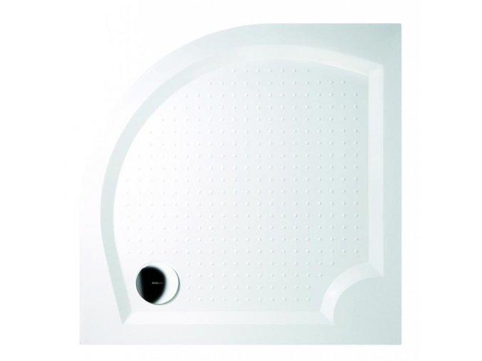 GELCO - VIVA80 sprchová vanička z litého mramoru, čtvrtkruh, 80x80x4cm, R550, GV558