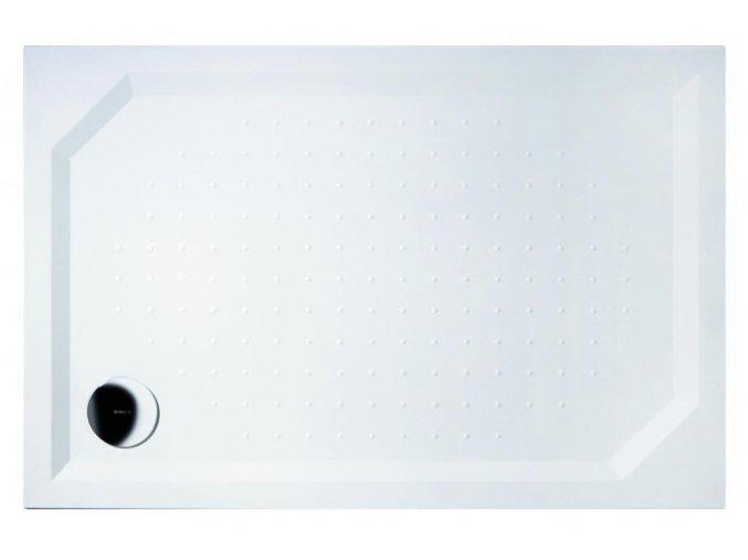 GELCO - SARA sprchová vanička z litého mramoru, obdélník 100x80x4cm, GS10080