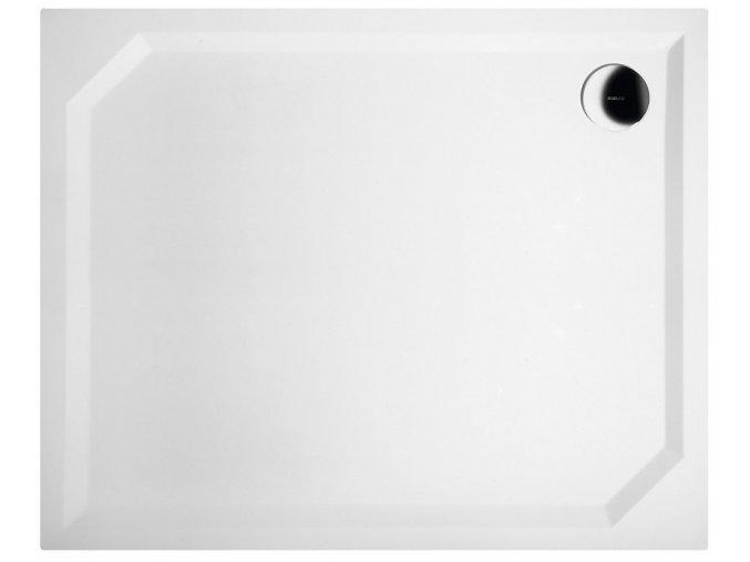 GELCO - SARA sprchová vanička z litého mramoru, obdélník 110x90x4cm, hladká, HS11090