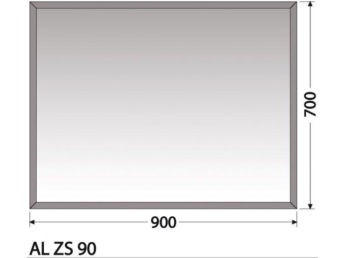INTEDOOR zrcadlo bez osvětlení AL ZS 90