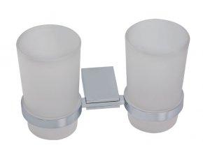 NOVASERVIS dvojitý držák kartáčků sklo NOVATORRE 0957.0 chrom