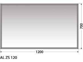 INTEDOOR zrcadlo bez osvětlení AL ZS 120