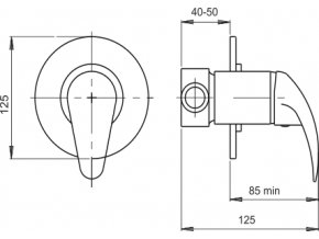 NOVASERVIS sprchová podomítková baterie METALIA 55050.0