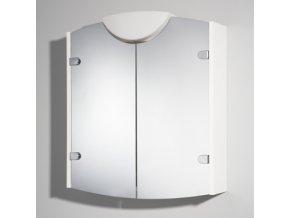 JOKEY WINNER bílá zrc.skříňka 63x71x18 dřevěná, 20W, 361602-0110