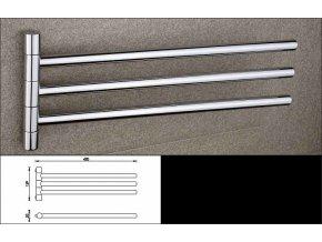 NIMCO držák na ručníky se třemi rameny BORMO, BR 11096-3-26