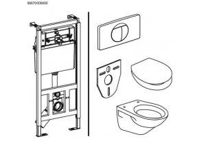 SANIT SET 995 N - modul,klozet,wc sedátko,tlačítko,protihluková podložka v ceně