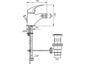 NOVASERVIS bidetová stojánková baterie METALIA 55011.0
