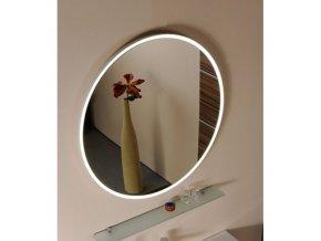 FLOAT zrcadlo s LED osvětlením, průměr 60cm, bílá