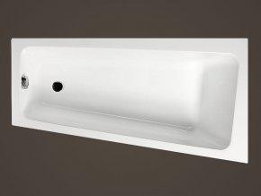 Santech asymetrická akrylátová vana VIKY 150x80cm, Pravá / Levá
