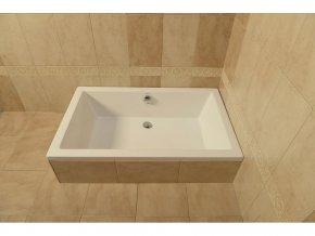 POLYSAN - DEEP 120x75 hluboká sprchová vanička 120x75x26cm, bílá s podstavcem 71564
