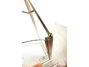 GELCO - ANTIQUE sprchové dveře 900mm, levé, čiré sklo s dekorem, chrom, GQ1590L