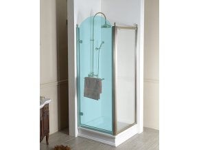 GELCO - ANTIQUE sprchové dveře 800mm, levé, čiré sklo s dekorem, chrom, GQ1580L