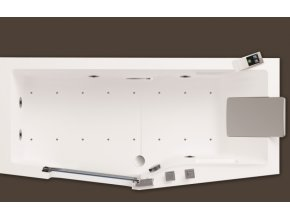 Santech hydromasážní vana s dvířky IRIS 160 x 80cm