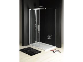 GELCO - FONDURA boční stěna 1000mm, čiré sklo, GF5001