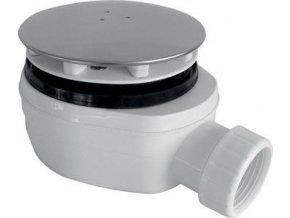 GELCO - vaničkový sifon  PB 90 INOX, chrom krytka, PB90