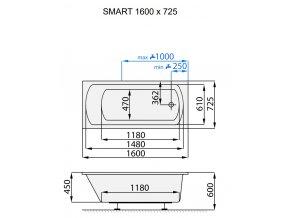 Santech hydromasážní vana SMART  Body 200, 160 x 72,5 cm, automatický dohřev vody zdarma