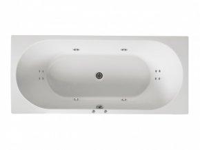 Santech hydromasážní vana GEMINI  Body 200, 170 x 75 cm, automatický dohřev vody zdarma