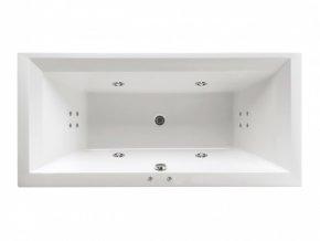 Santech hydromasážní vana LINEA XL  Body 200, 190 x 90 cm, automatický dohřev vody zdarma
