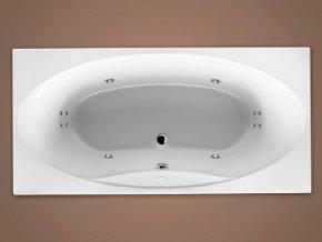 Santech hydromasážní vana LAKE  Body 200, 185 x 90 cm, automatický dohřev vody zdarma