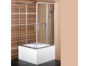 POLYSAN CARMEN čtvercová sprchová zástěna 900x900x1500mm, čiré sklo MD5115