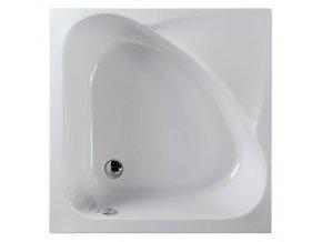 POLYSAN  CARMEN sprchová vanička čtvercová 90x90x30cm, hluboká, bílá s podstavcem 29611