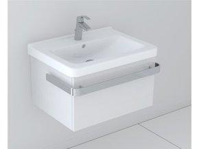 Koupelnová skříňka s umyvadlem LaVilla bílá 60 s umyvadlem Cubito 8.1042.3. S-B601Z-01