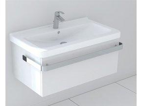 Koupelnová skříňka s umyvadlem LaVilla bílá 85 s umyvadlem Cubito 8.1042.6. S-B851Z-01