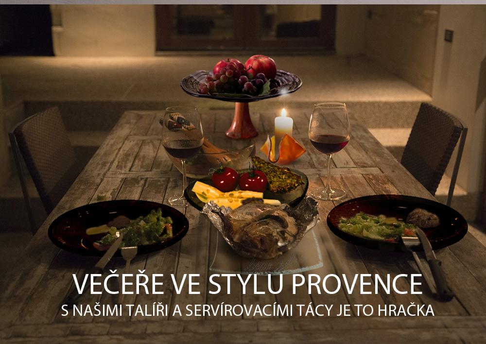 Skleněné talíře a mísy ve stylu Provence
