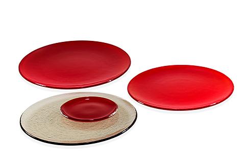 Skleněné talíře podle použití